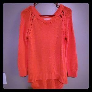 Zara knit coral sweater